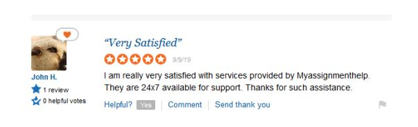 myassignmenthelp.com feedback and reviews on student support- trustpilot