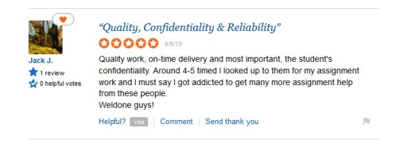 myassignmenthelp.com quality of work feedback review on sitejabber